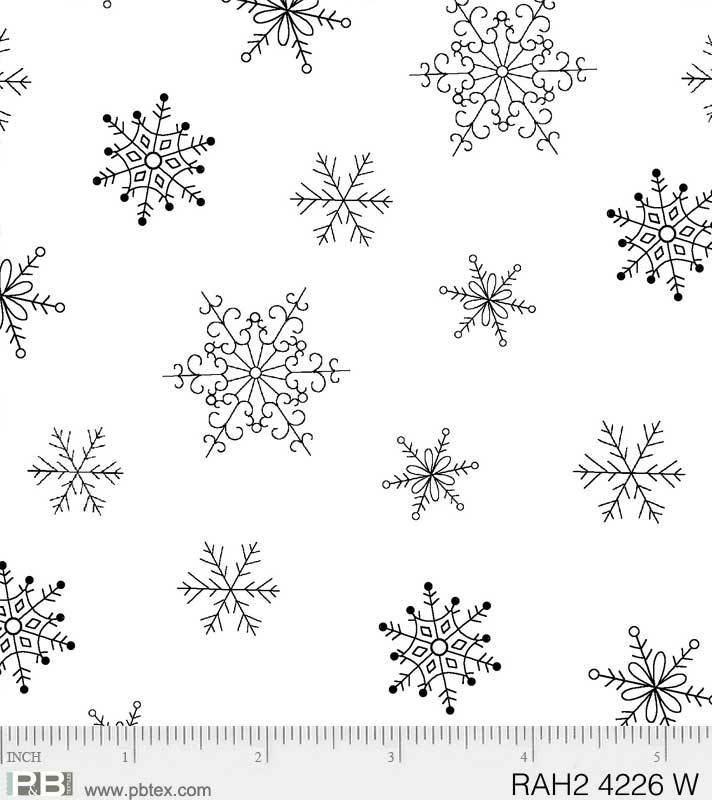 Ramblings Holiday 2 Snowflakes White/White
