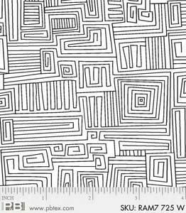 Ramblings 7 Maze White/White