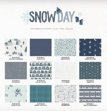 Snow Day Fat Quarter Bundle 12 Pieces
