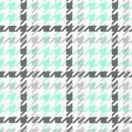 Cozy Cotton Flannel Houndstooth Mint