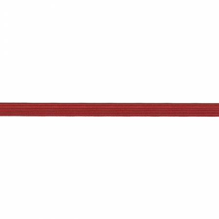 Flat Elastic Red 1/4' x 5 yards