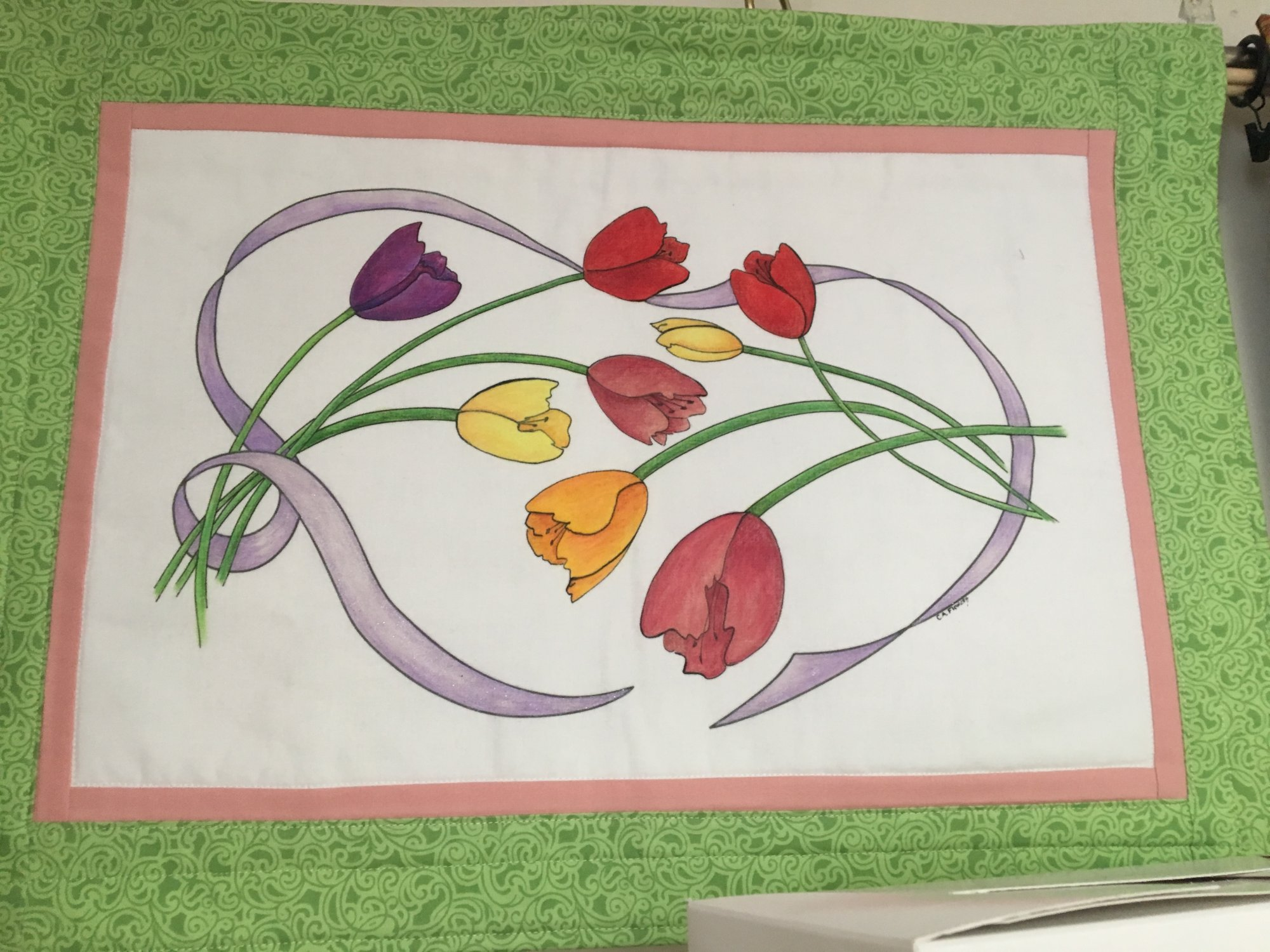 Catherine's Spring Ribbon Coloring Kit