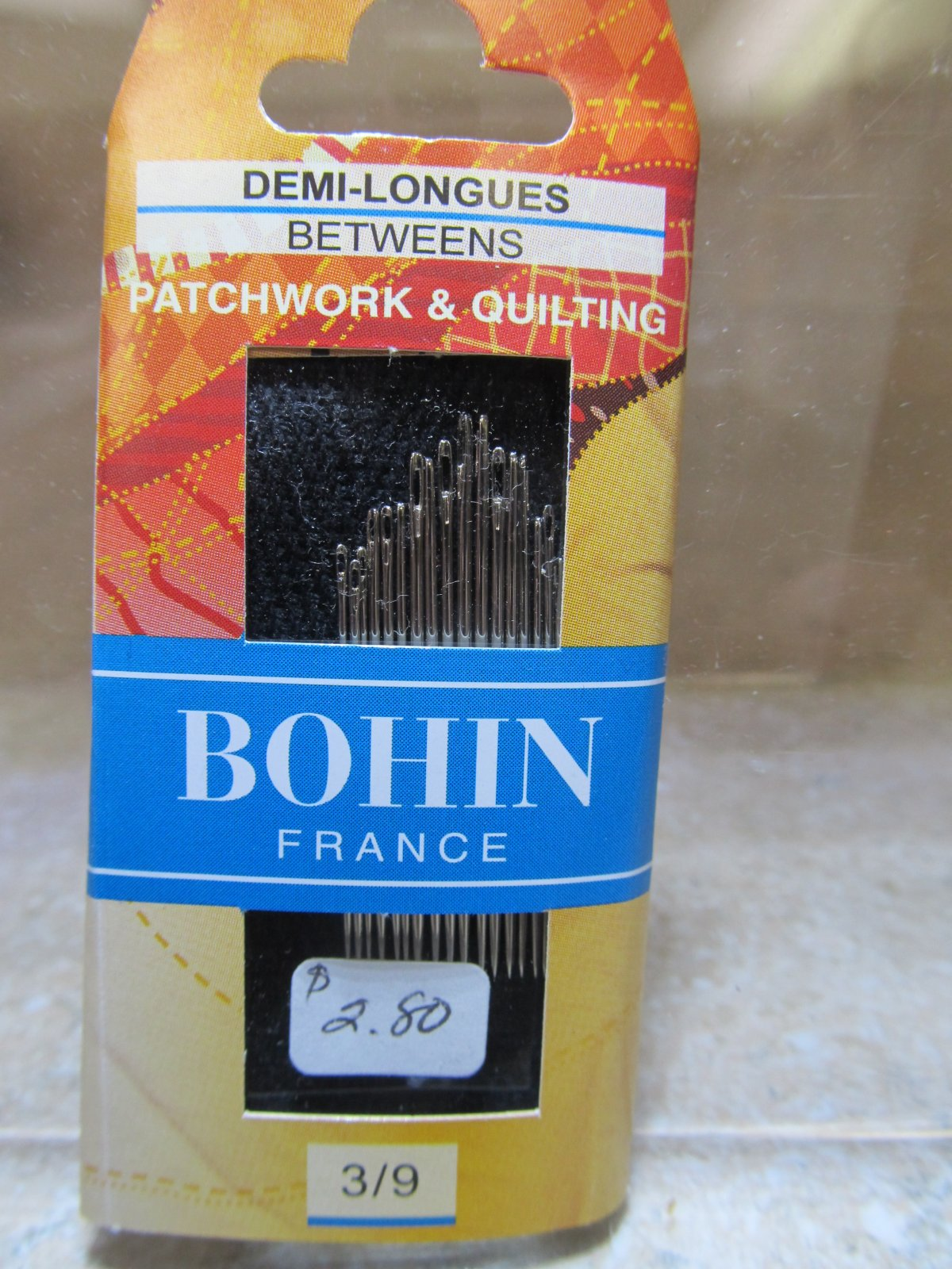Bohin Between / Quilting Needles Assorted Sizes 3/9