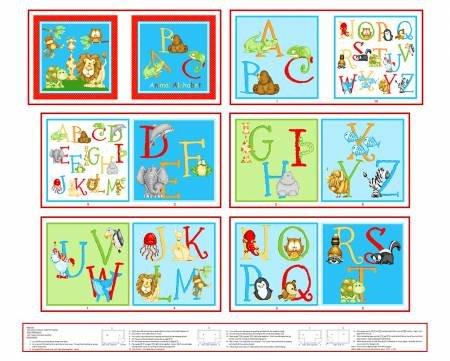 ABC Animal Alphabet Book Panel