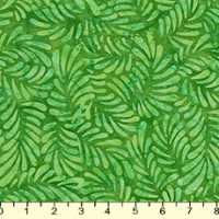 Batavian Bright Green Feathers Batik