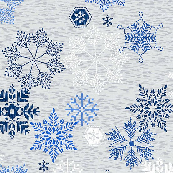 NORTHERN LIGHTS BLUE SNOWFLAKES