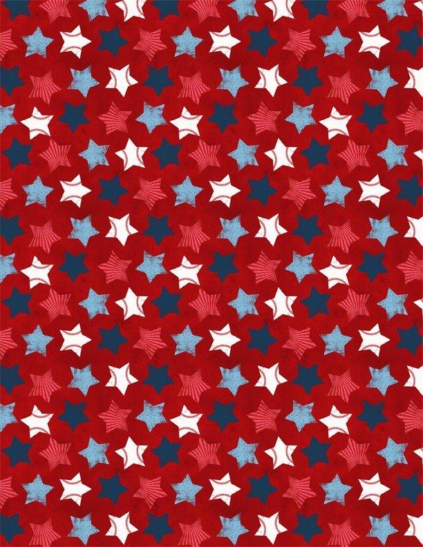 RED STARS ALLOVER