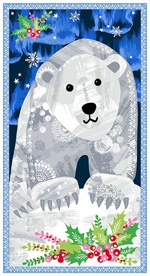 NORTHERN LIGHTS POLAR BEAR PANEL