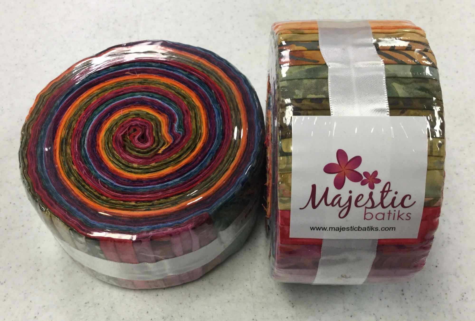 MAJESTIC BATIKS PUMPKIN SPICE JELLY ROLL