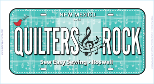 Row by Row 2018 NM License Plate 1