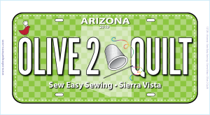 Row by Row 2019 AZ License Plate