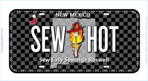 Row by Row 2019 NM License Plate