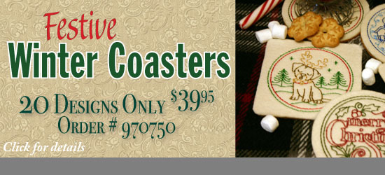 Dakota Collectibles Festive Winter Coasters