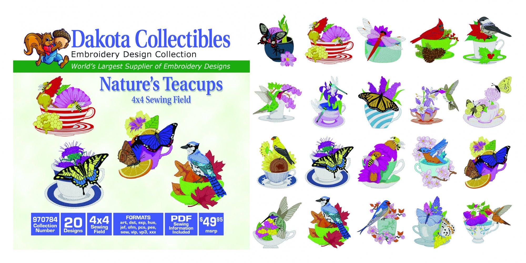 Nature's Teacups (4x4) 970784