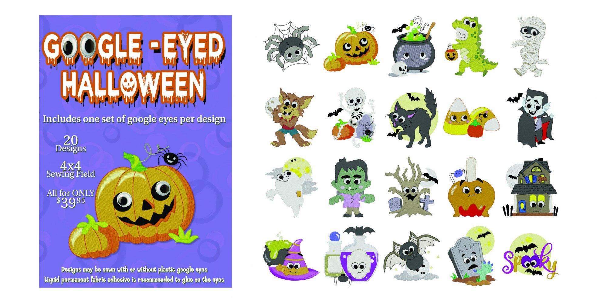970789 Google-eyed Halloween (4x4)