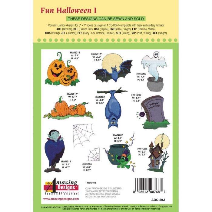 Amazing Designs Embroidery CD GIFT Sweet Halloween-