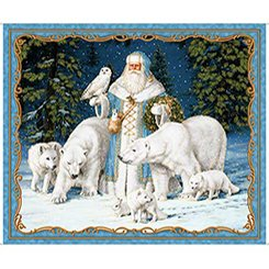 ALL IS CALM ARCTIC SANTA PANEL(36)