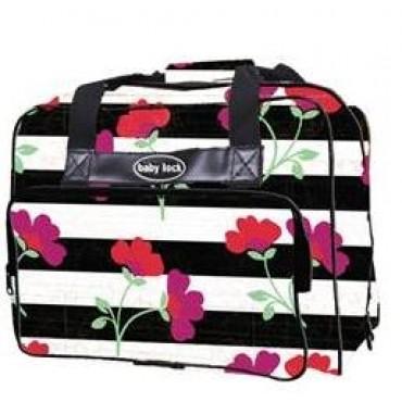 Baby Lock Floral Stripe Machine Tote Bag