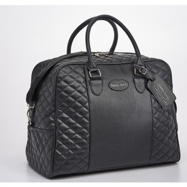 Quilted Machine Tote Black