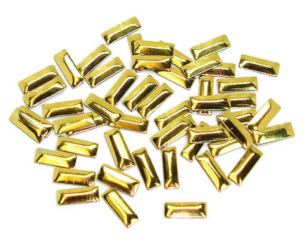 2.5x7mm Gold Rectangle Nailheads