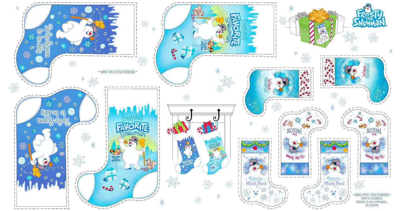 Favorite Snowman Stocking Panel