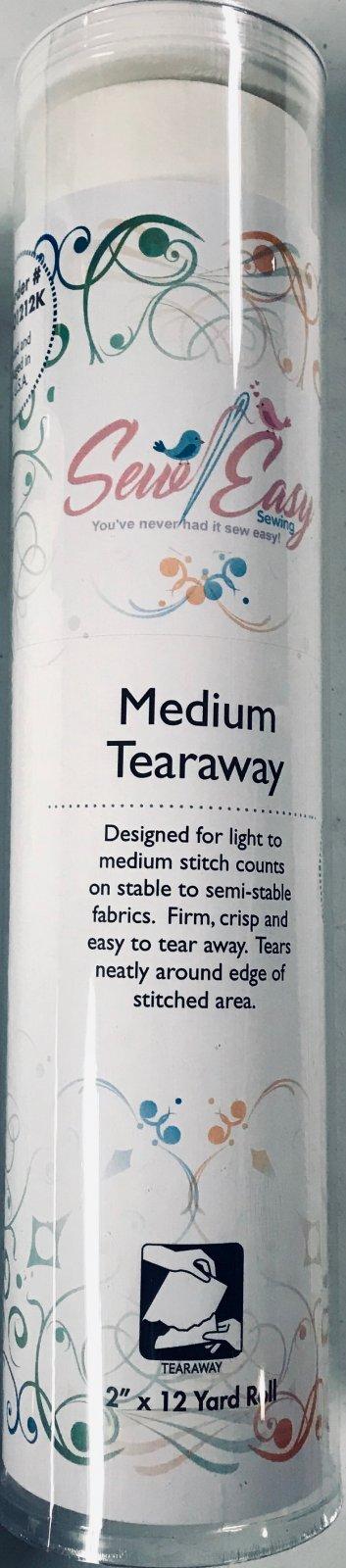 Medium Tearaway Embroidery Stabilizer 12 Inch x 12 Yards