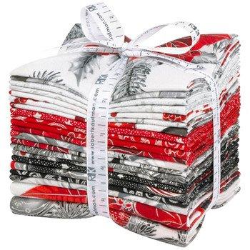 Fat Quarter Bundle - Holiday Flourish Silver 21pc