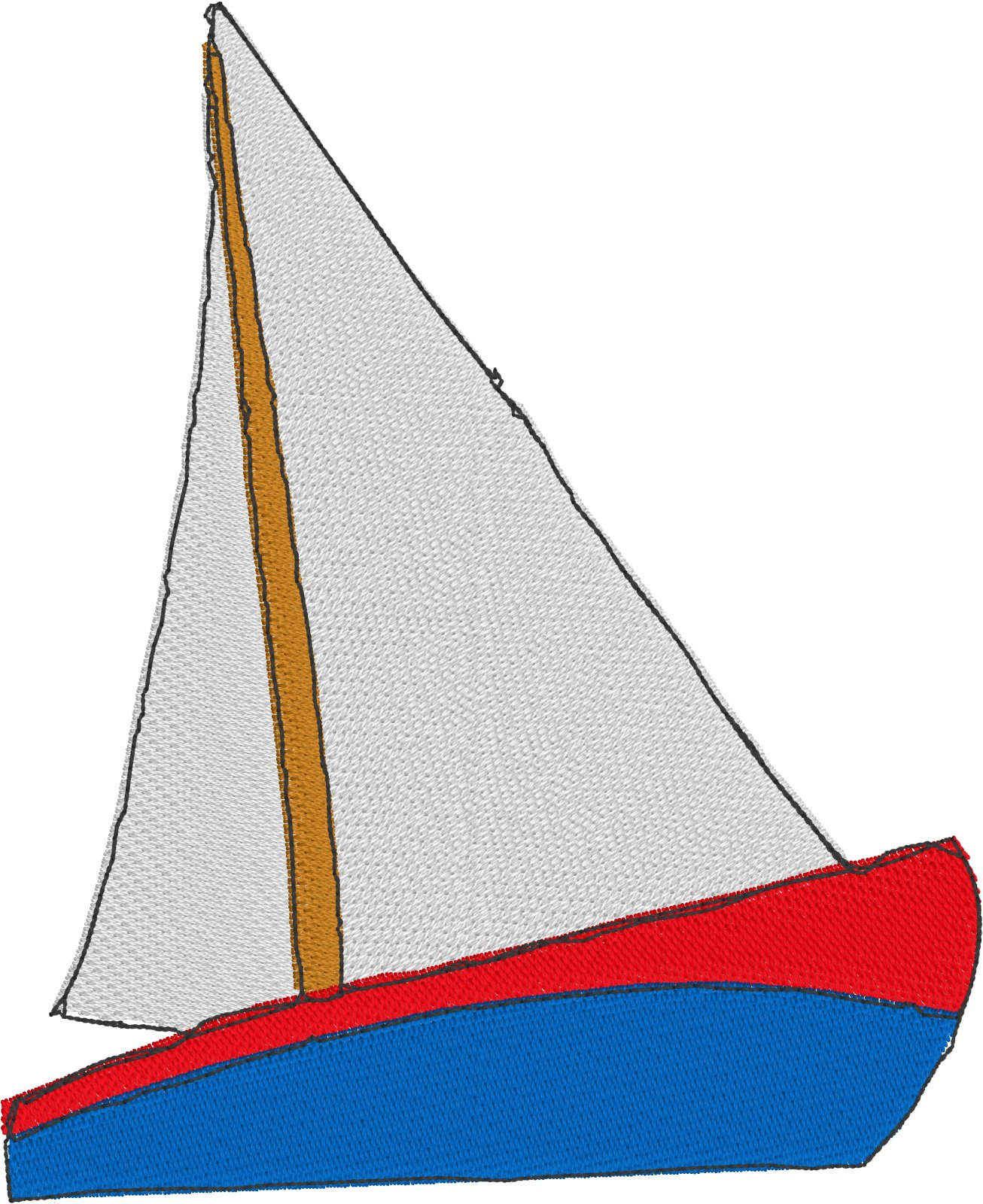 Row by Row 2017 Virginia Large Sailboat Embroidery File