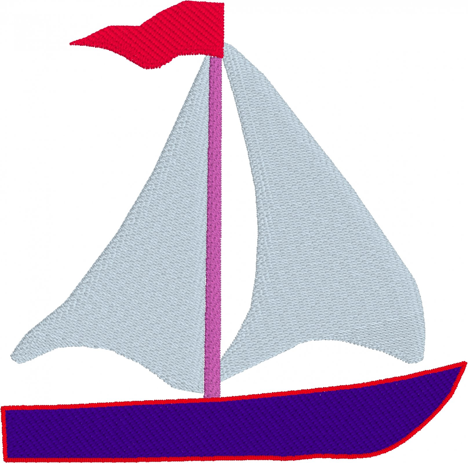 Row by Row 2017 Virginia Small Sailboat Embroidery File