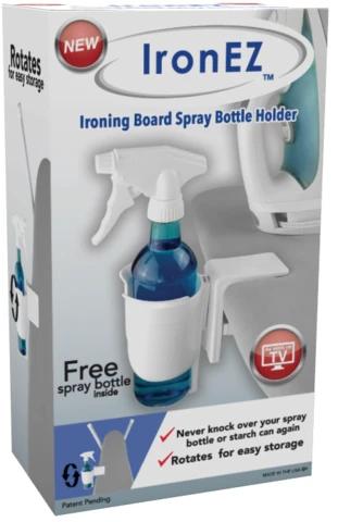 IronEZ - Ironing Board Spray Bottle Holder