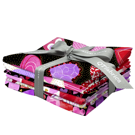 Fat Quarter Bundle - Sweethearts 6pc