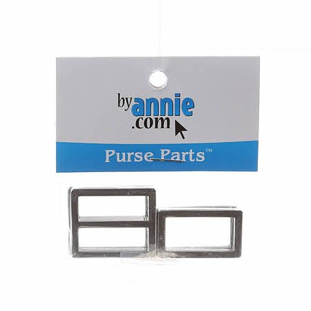 Purse Parts - Hardware Set Nickel 1in Rectangle Ring