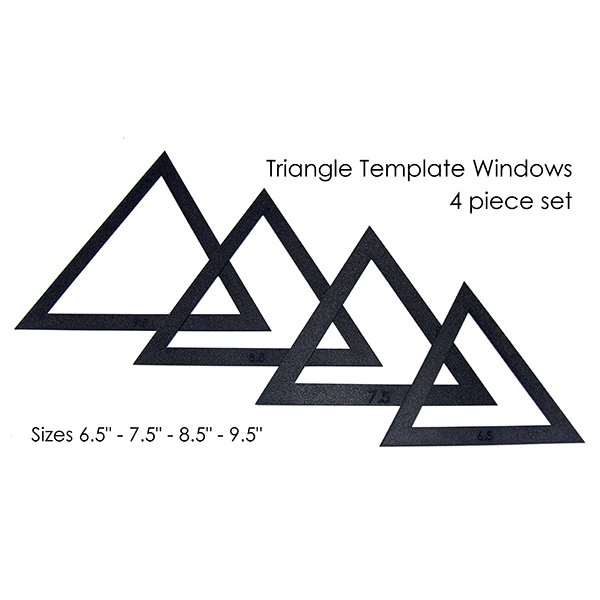 Martelli Large Triangle Fussy Cut Templates- 6.5in - 9.5in