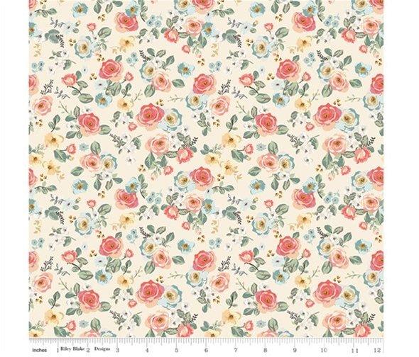 Gingham Gardens - Floral Cream