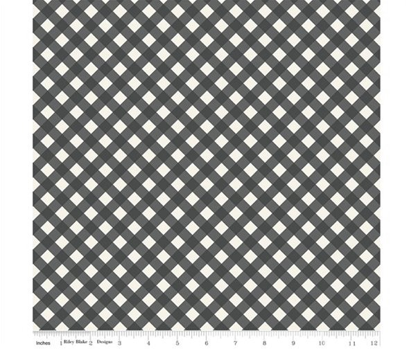Gingham Gardens - Check Charcoal