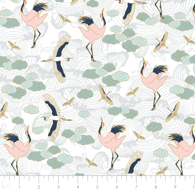 Mystic Cranes White