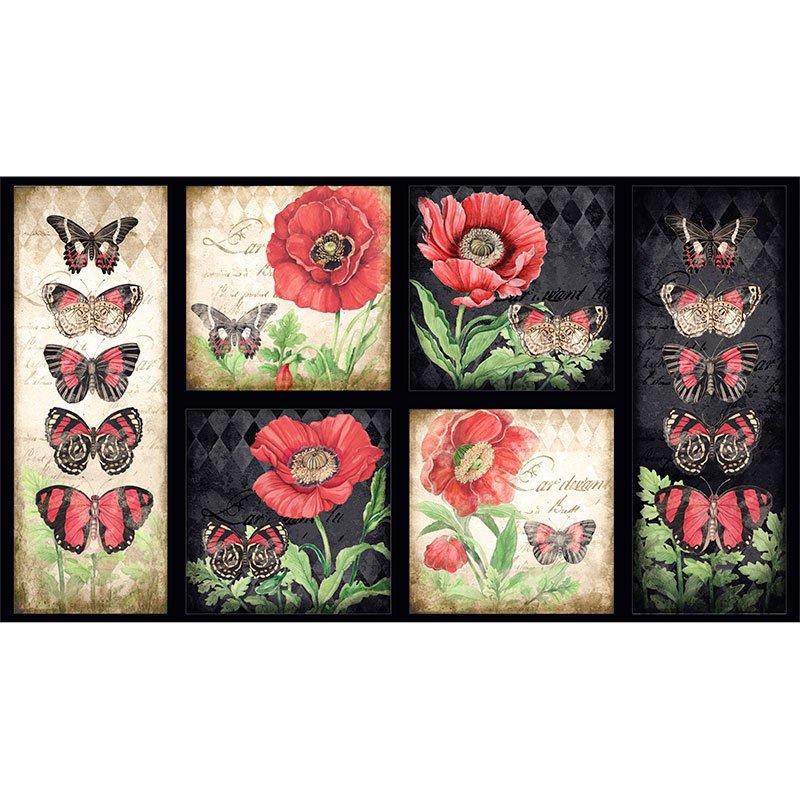 Harlequin Poppies Panel