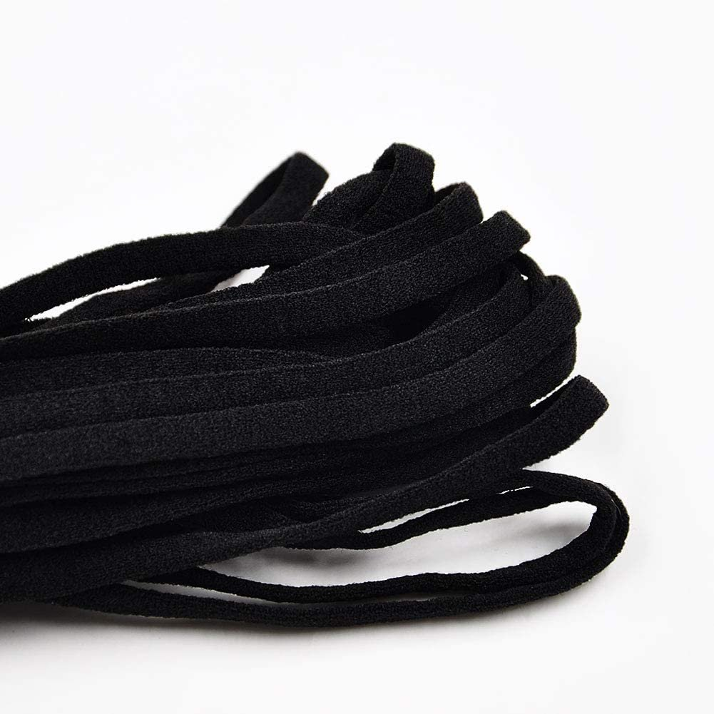 6mm Flat Stretch Elastic - Black 5m bundle