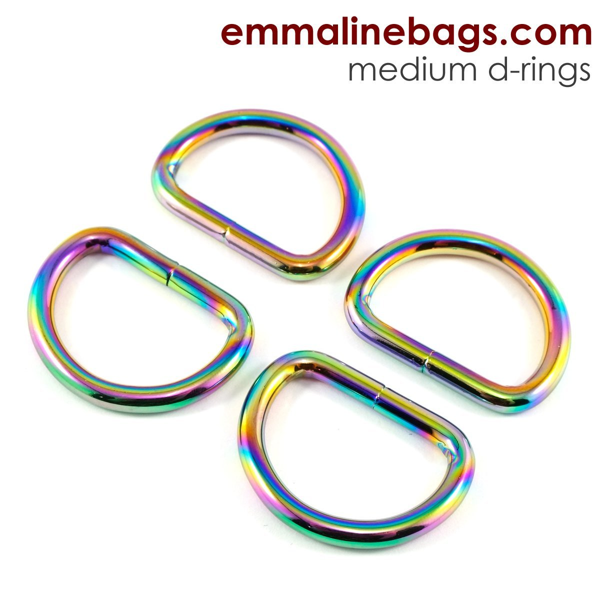 D Rings 1 Iridescent Rainbow (4 pack)