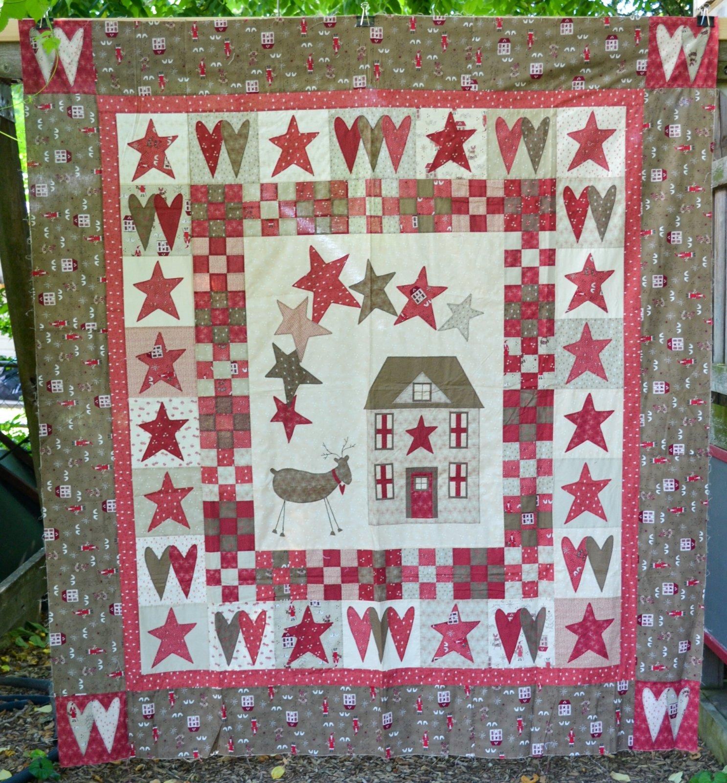 Scandinavian Christmas Quilt - Top Only