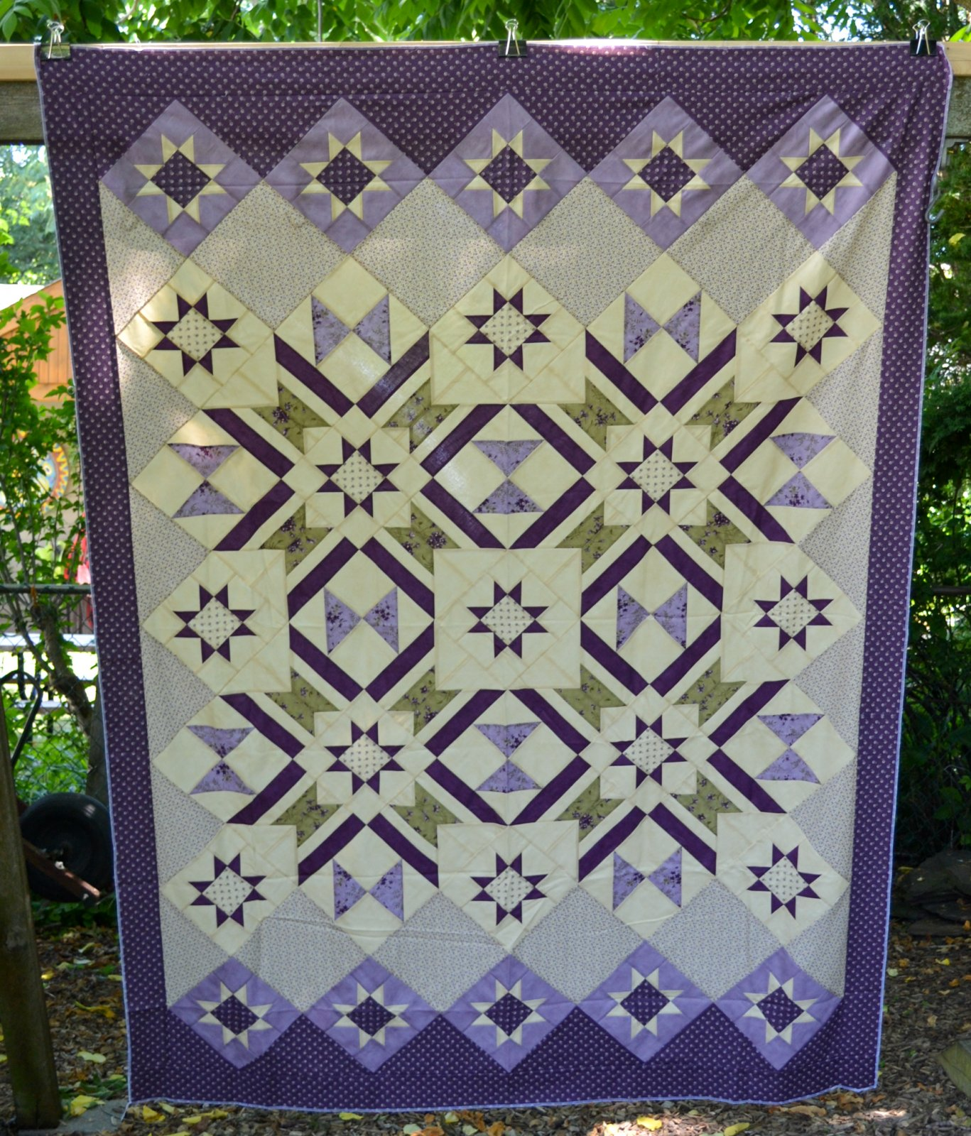 Sweet Violet Quilt - Top Only