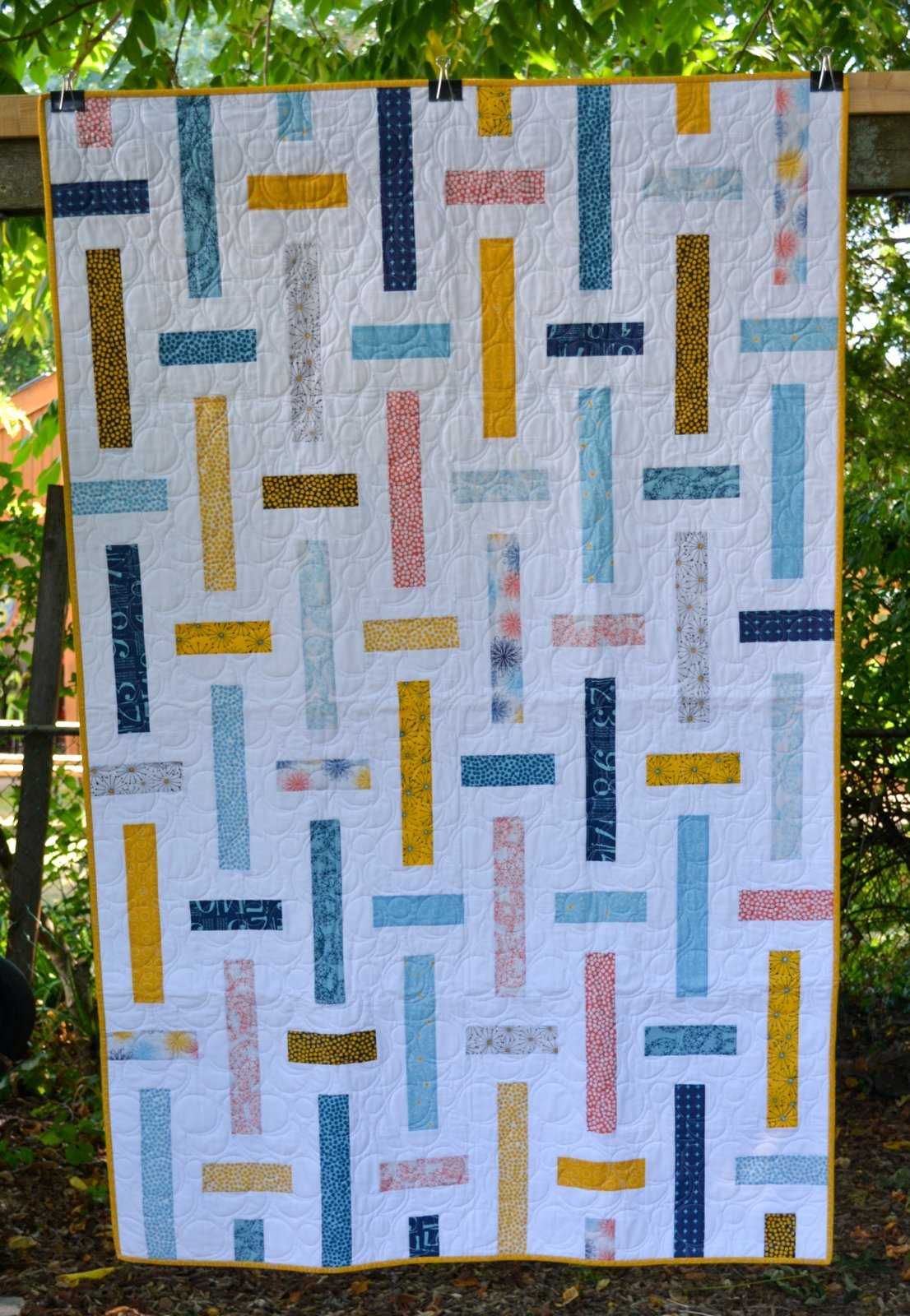 Ribbon Candy Finished Quilt