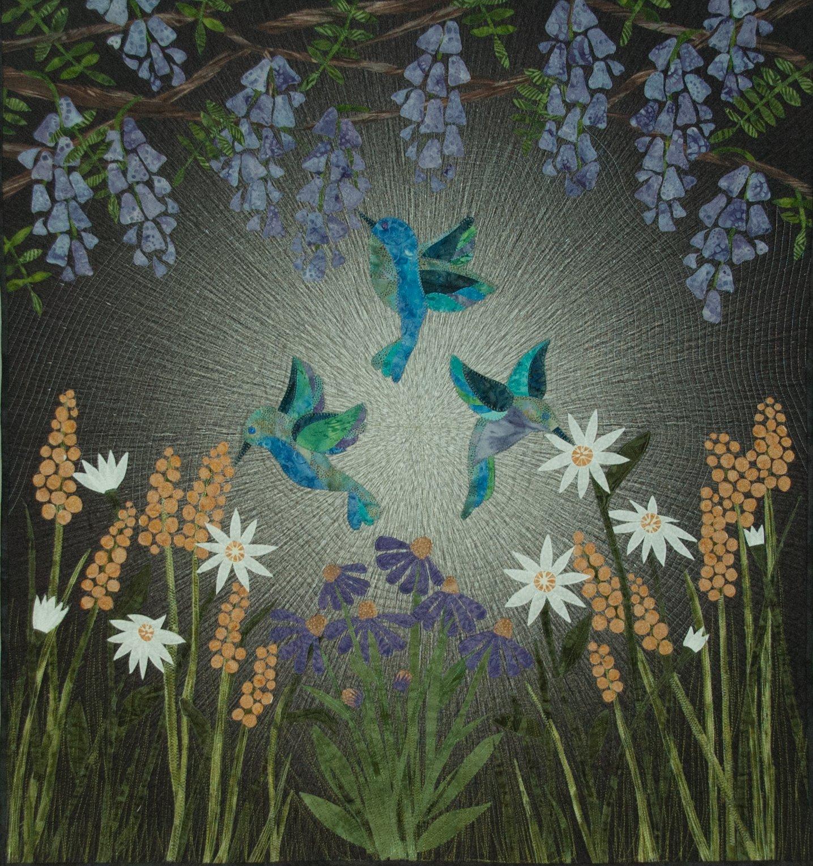 Hummingbird Garden 40 x 40