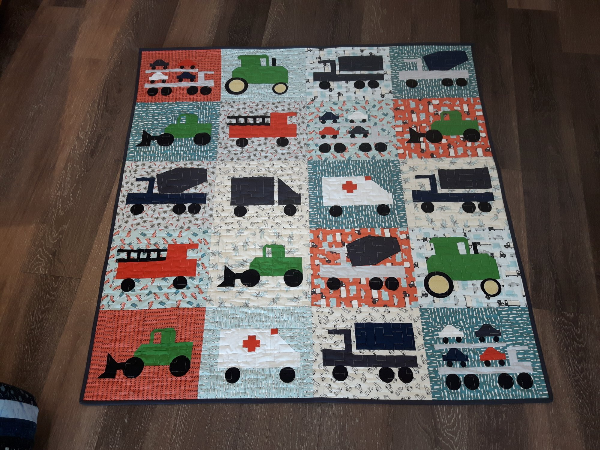 Mighty Machines Finished Quilt - 52 x 54