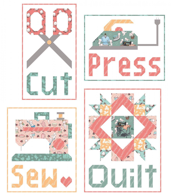 Cut Press Sew Quilt Pattern