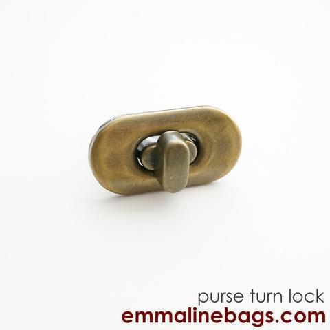 Small Turn Lock Brass