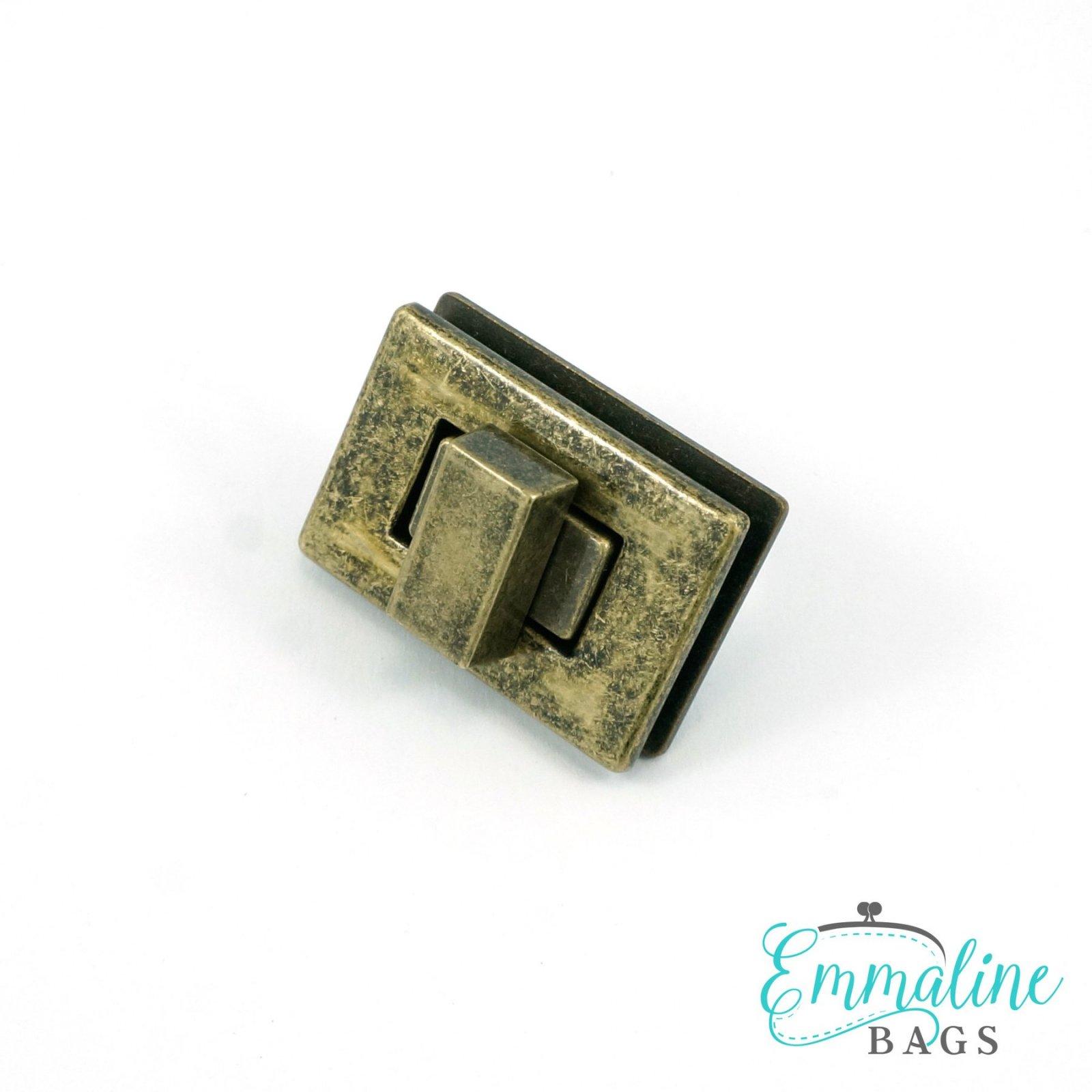 Rectangular Bag Lock 1.5 - Brass