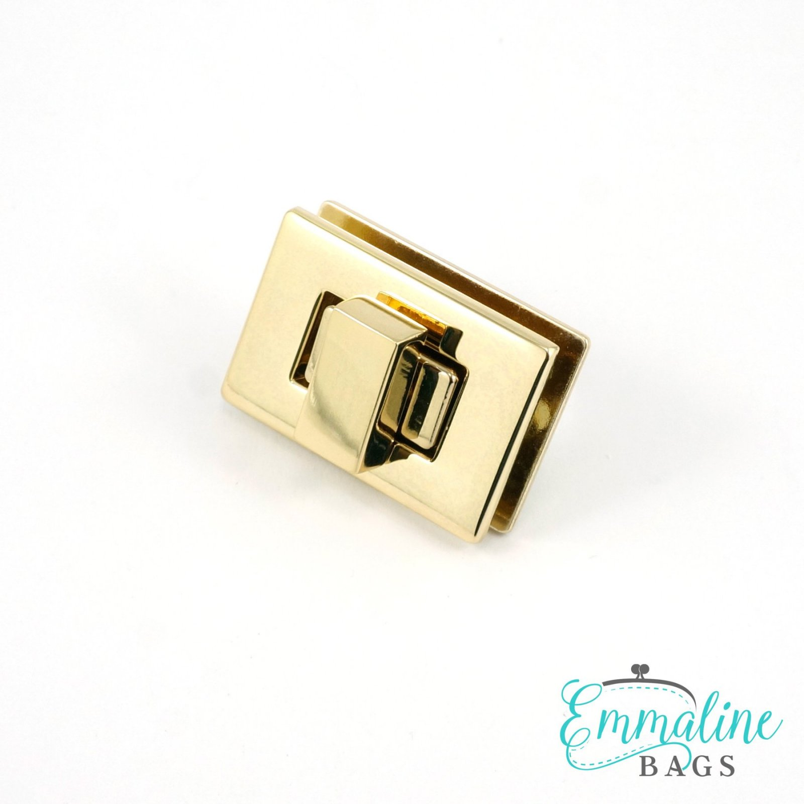 Rectangular Bag Lock 1.5 - Gold