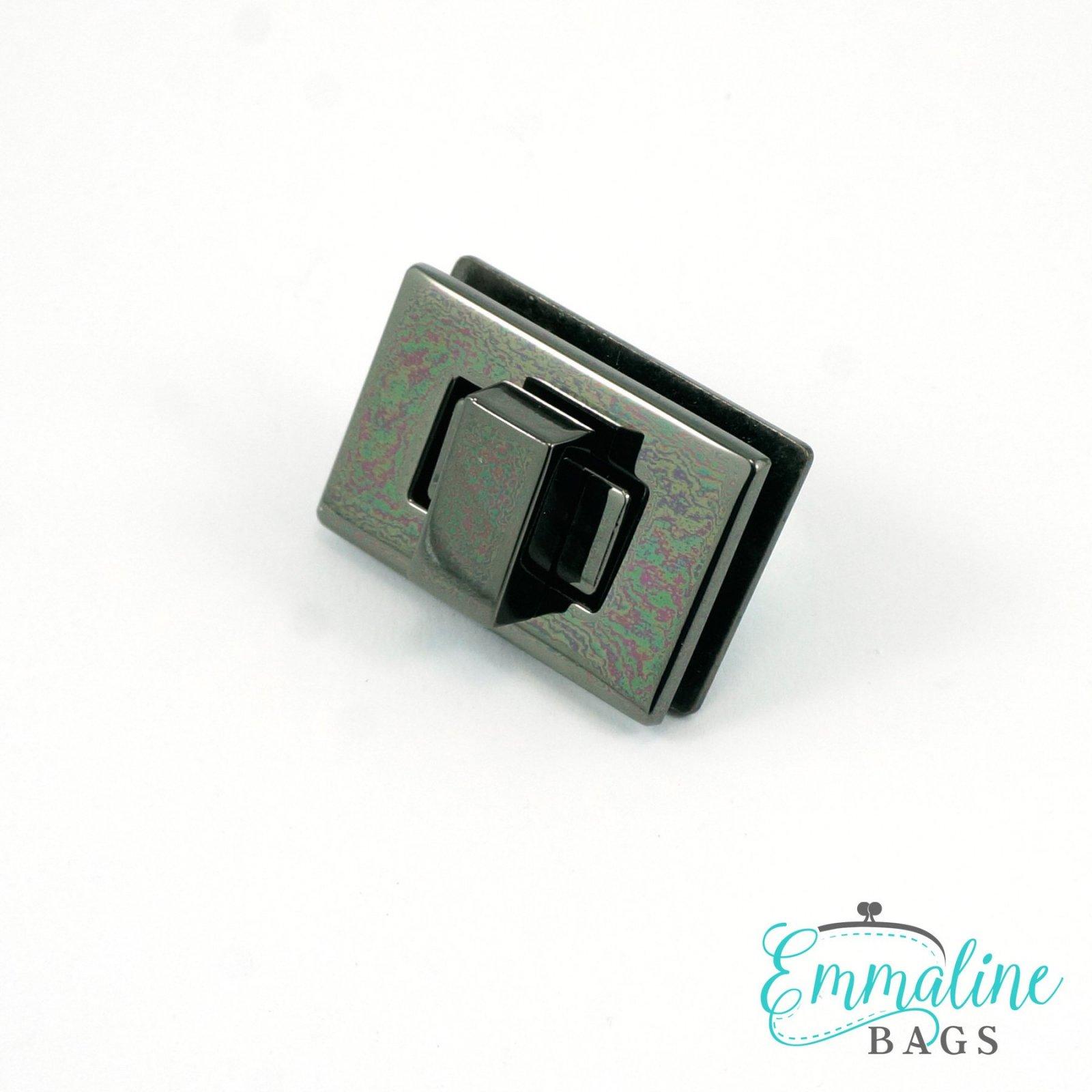 Rectangular Bag Lock 1.5 - Gunmetal