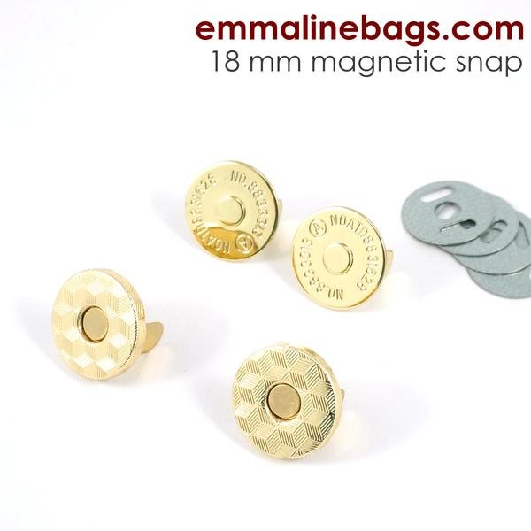 Magnetic Snaps 18mm Gold
